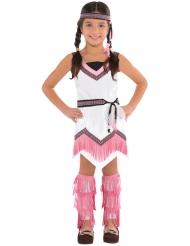Costume da indiana bianco e rosa per bambina