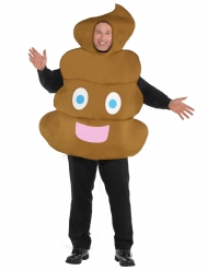 Costume Emoticon Cacca per adulto
