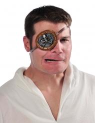 Copri Occhio da pirata con teschio per adulto