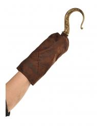 Uncino da pirata con manica per adulto
