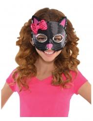 Maschera da gatto con paillettes bambina