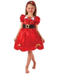 Costume da Miss Natale rosso per bambina