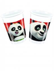 8 Bicchieri in plastica Kung Fu Panda 3™ 200 ml