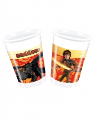 8 Bicchieri in plastica Dragon Trainer™ 200 ml
