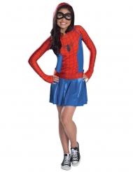 Costume da Spider girl™ con cappuccio per bambina