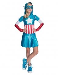 Costume metallizzato Capitan America™ per bambina
