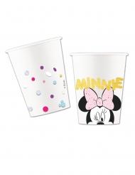 8 bicchieri premium in cartone effetto metallizzato Minnie™