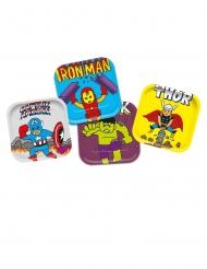 4 piatti in cartone premium Avengers™ Pop Comic