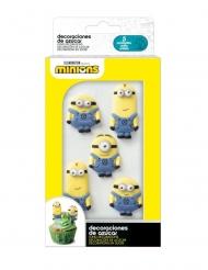 6 Mini decorazioni in zucchero Minions™
