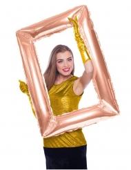 Palloncino in alluminio quadro rettangolare rosa dorato