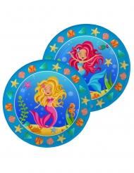 8 Piatti di carta Piccole Sirene