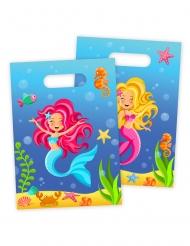 8 Buste regalo Sirena blu