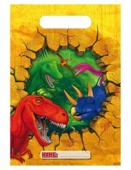 6 Buste regalo in plastica Dinosauri