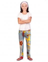 Leggings jeans hippie per bambina
