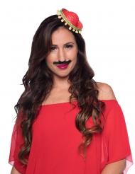 Mini sombrero rosso per adulto