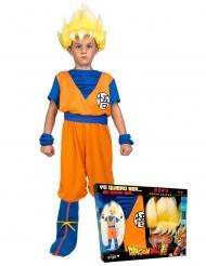 Cofanetto costume Goku Super Sayan Dragon Ball™ bambino con parrucca