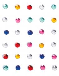 Strass per viso e corpo multicolori per adulto