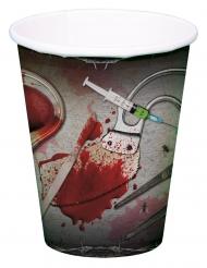 8 Bicchieri di carta ferri da chirurgo insanguinati