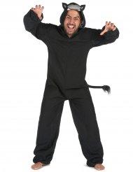 Costume tuta da pantera nera per uomo