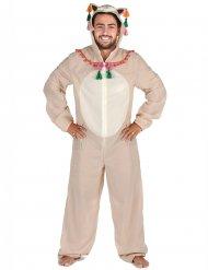 Costume tuta con cappuccio lama uomo