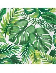 16 tovaglioli in carta palme tropicali 33 cm