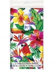 Tovaglia in plastica colorata con motivi tropicli
