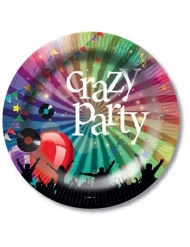 6 Piatti di carta Crazy Party