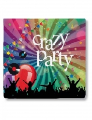 20 Tovaglioli in carta Crazy Party