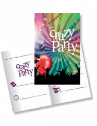 10 Inviti con busta Crazy Party