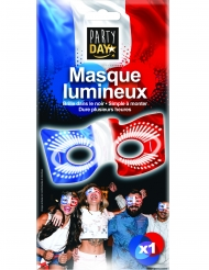 Maschera fosforescente tricolore Francia