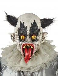 Maschera in lattice clown nero e bianco