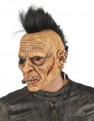 Maschera in latex punk con cresta per adulto
