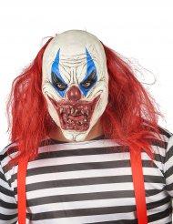 Maschera in lattice rosso e bianco adulto