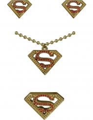 Kit orecchini, collana e anello Supergirl™