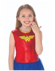 Kit orecchini collana e anello Wonder Woman™ bambina