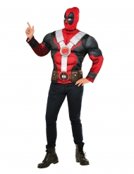Maglia con muscoli e maschera Deadpool™ per adulto