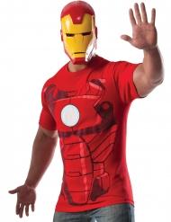 Tshirt con maschera Iron Man™ adulto