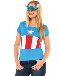 Tshirt e maschera American Dream Capitan America™ donna