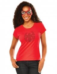 Tshirt con strass e maschera Spidergirl™ donna