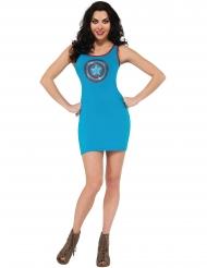 Costume vestito con strass Capitan America™ donna