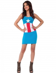 Costume vestito American Dream Capitan America™ donna