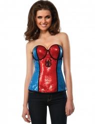 Corsetto Spidergirl in paillettes donna