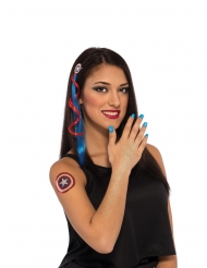 Kit accessori e trucco Captain America™ per donna