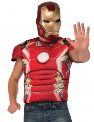 Maschera e maglia imbottita Iron Man™ per adulto