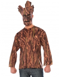 Maglia e Maschera Groot I guardiani della Galassia™ adulto
