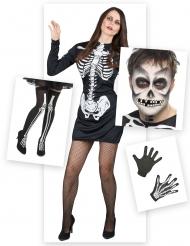 Kit travestimento scheletro donna