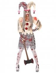 Costume da giullare insanguinato per donna