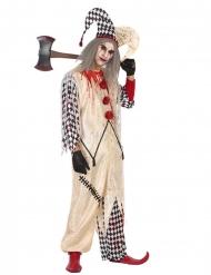 Costume da giullare insanguinato per uomo