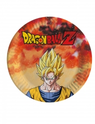 8 piattini di cartone Dragon Ball Z™ 18 cm