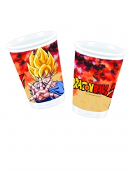 8 bicchieri in plastica Dragon Ball Z™ 200 ml